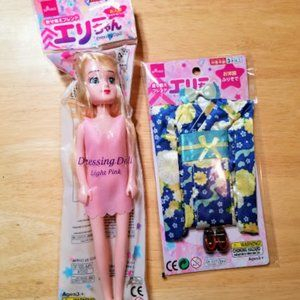 Daiso Japan Doll and Kimono Outfit NEW